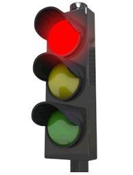 赤信号で止まらない