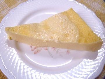 レンジでチーズケーキ