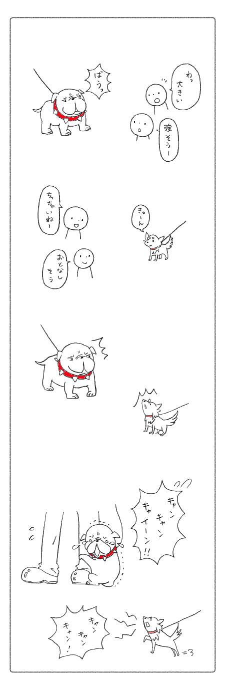 大きい犬、小さい犬