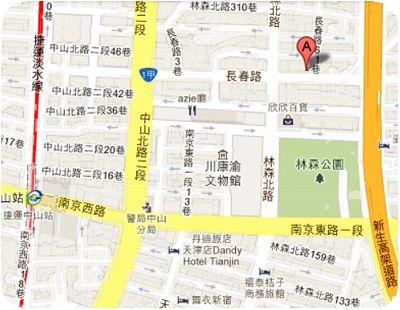 鶏家荘地図