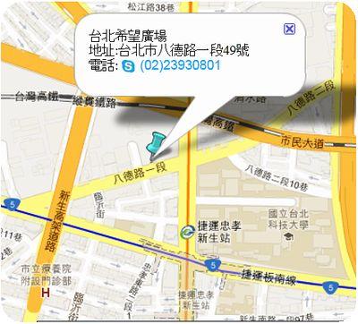 希望廣場地図