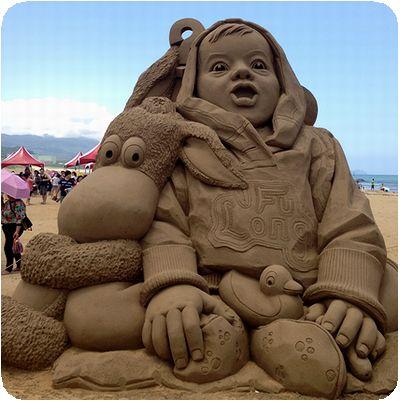 福隆国際砂彫外人子供