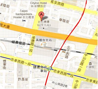 雲軒西餐廳地図