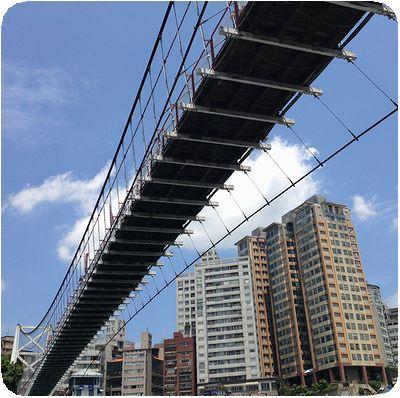 ドラゴンボートボート吊り橋下