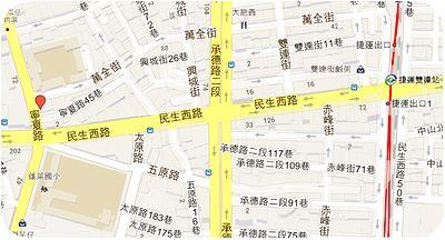 寧夏路夜市地図