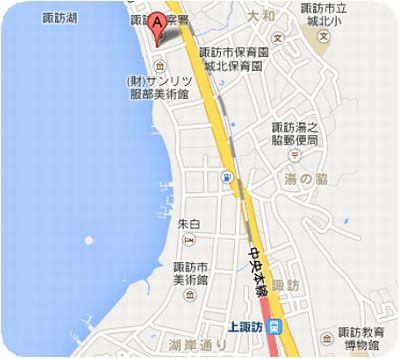北澤美術館地図