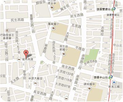 海鮮麺疙瘩地図