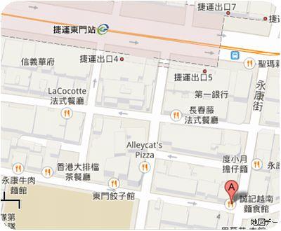 天津葱抓餅地図