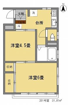 細川ビル201間取図