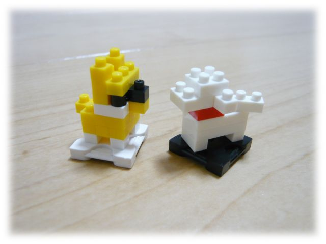 nanoblock/子犬