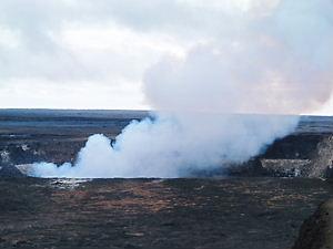 キラウェア火山噴火口