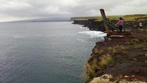 サウスポイント断崖
