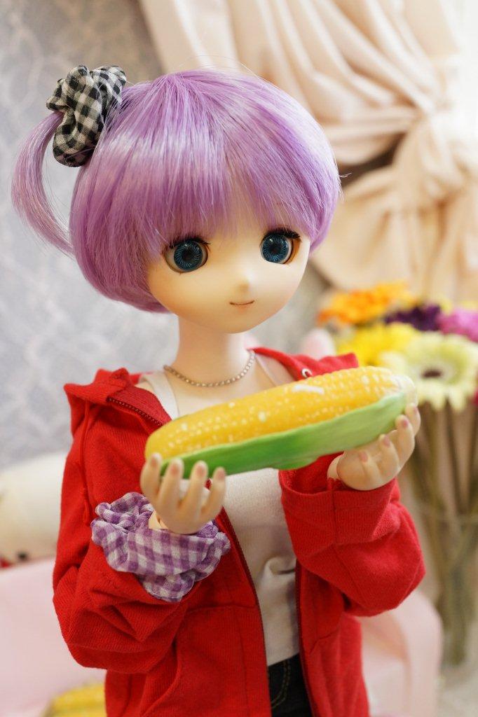 焼きトウモロコシが食べたいアイちゃん。