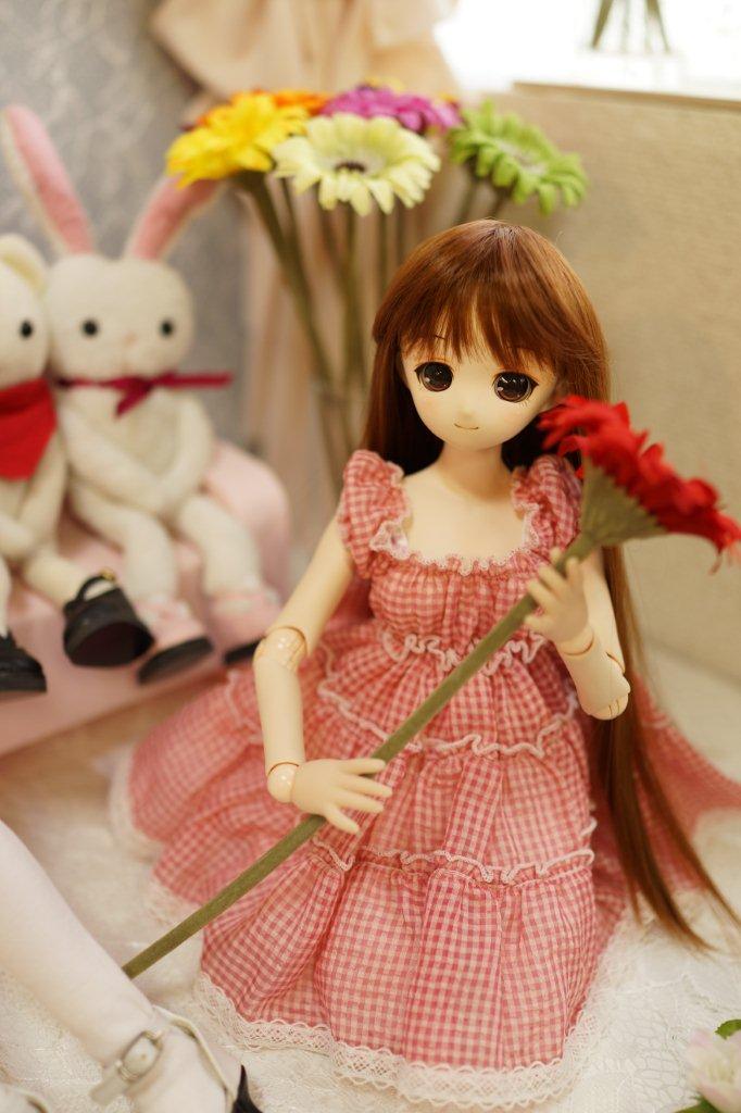 お花の似合う女の子。