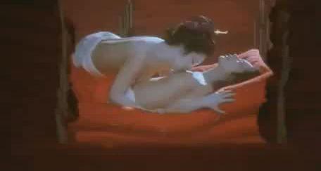 【二宮さよ子】乳首を吸われまくりのレズ濡れ場映像