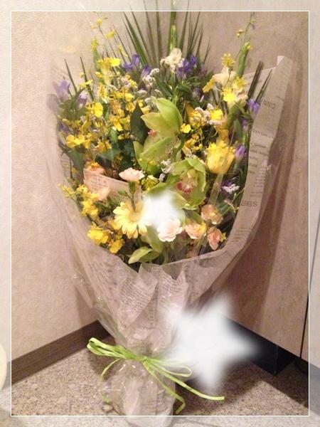 20130831アウディーから花束