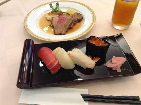 お寿司とローストビーフ