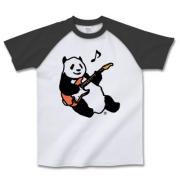 ギタープレイパンダ ラグラン半袖Tシャツ