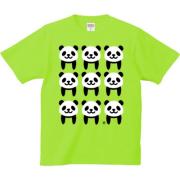 パターンパンダ 6.2oz Tシャツ-胸面 (濃色)
