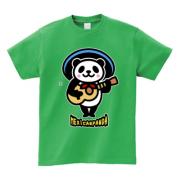 メキシコのパンダ 5.6ozヘビーウェイトTシャツ-胸面 (濃色)