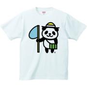 虫採りパンダ 6.2oz Tシャツ-胸面 (淡色)