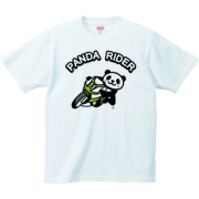パンダライダー2号 6.2oz Tシャツ-胸面 (淡色)