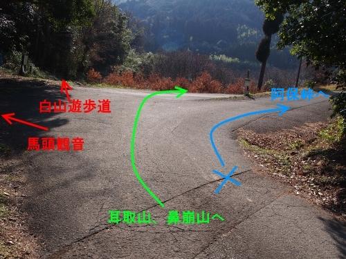 2馬頭観音の交差点