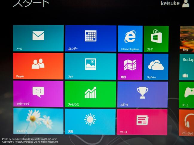 Windows 8 Pro メトロUI