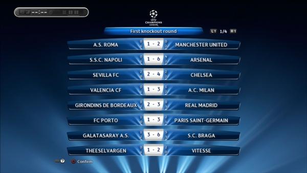 2年目UEFA CLベスト16対戦結果