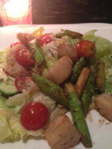 ホタテとアスパラガスのサラダ