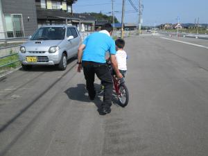 自転車の練習2