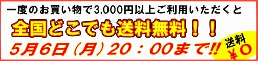3,000円以上のお買い物で全国どこでも送料無料!