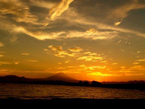 去年の富士山
