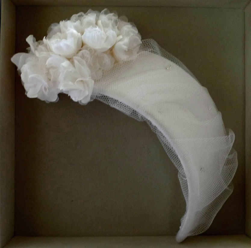 wedding bonnet 【No.2】1コサージュ付きヘッドバンド25.3×6.5cm1