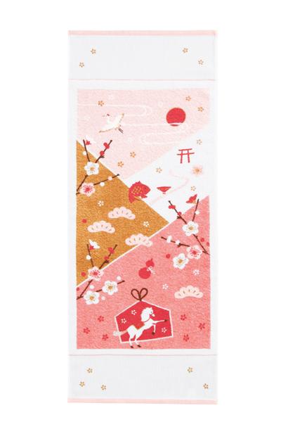 梅咲く初詣-ピンク小