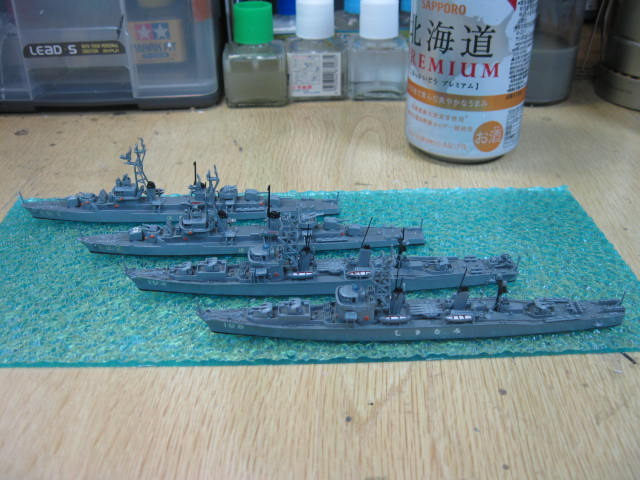 海上自衛隊 初期のDD 4隻