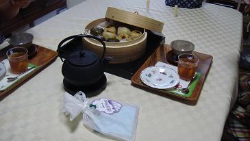 お茶菓子と手作りお茶