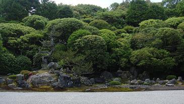 鶴亀の庭園