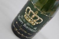 HappyBirthday彫刻シャンパン