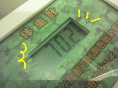 今日の体重6
