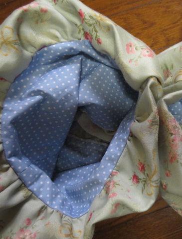 うち布はブルーの水玉