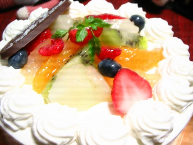 フルーツ生デコケーキ♪