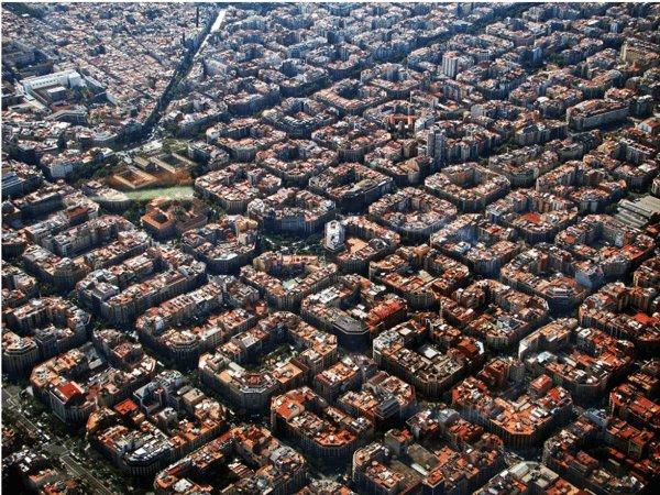 上空からみたバルセロナ