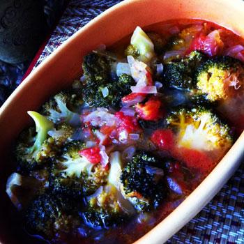 ブロッコリーのオリーブオイル煮