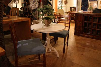 秋田木工 ダイニングテーブル カフェテーブル T-120 ホワイト