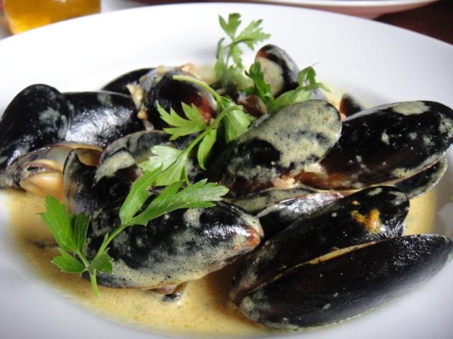 ムール貝のカレーソース