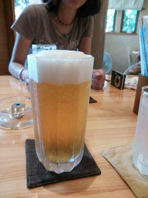 Y.Yで生ビール
