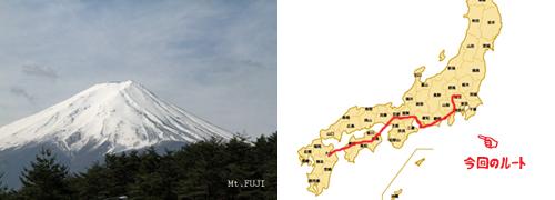 富士山とルート