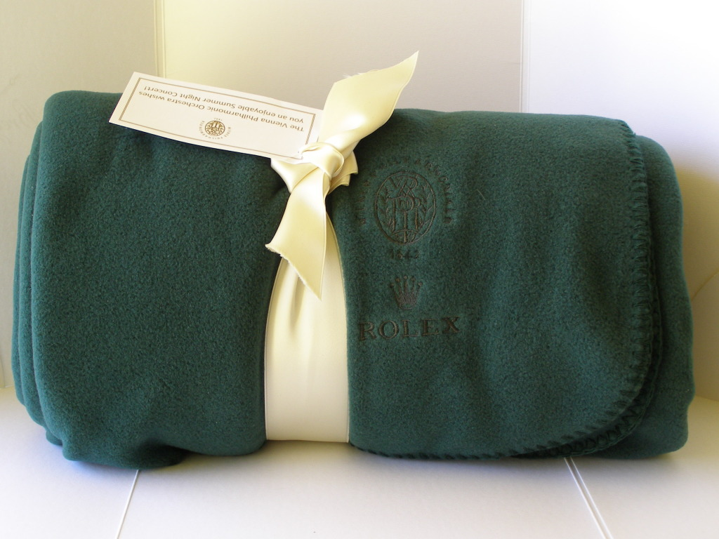 11111Rolex Green Luxury Blanket 2012 Limited Edition