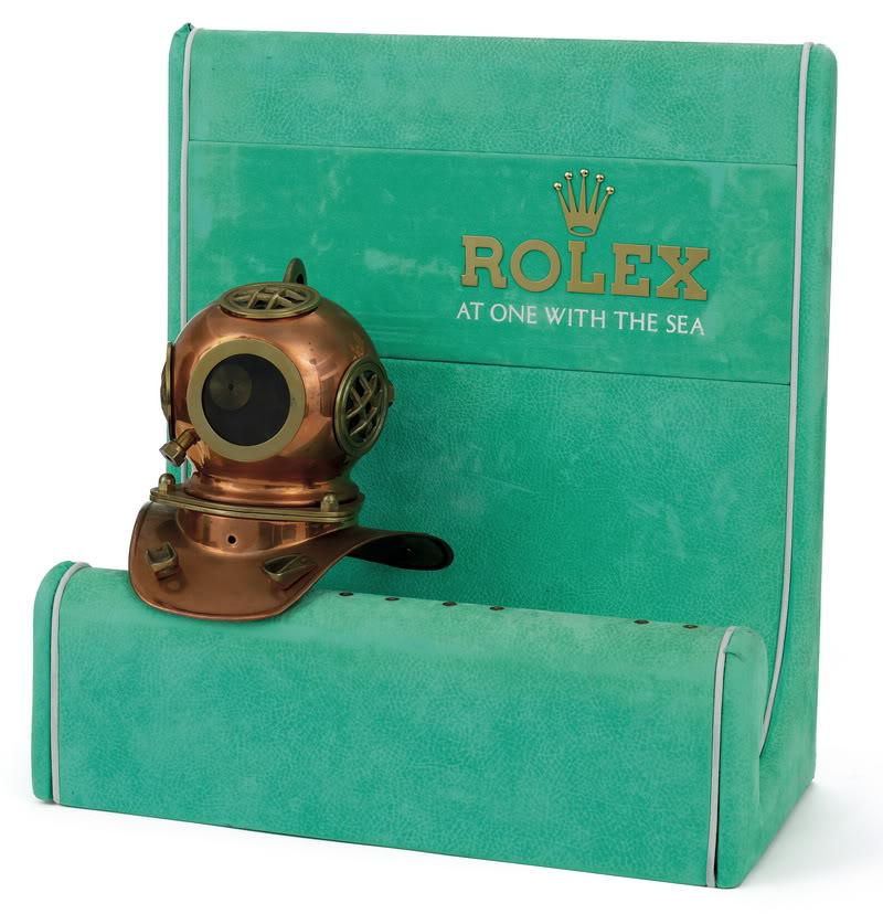 Rolex Copper Diver Helmet Circa 1970